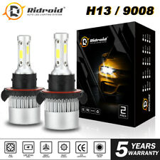 Par H13 9008 1950W 285000LM Cree Led Headlight Bulb Kit Hi/lo feixe 6000K Branco