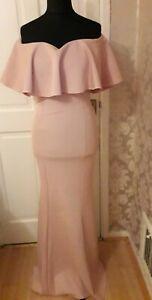 Quiz Frilled Bardot Maxi Dress. Size 12