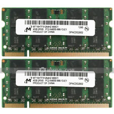 Micron 8GB 2x4GB PC2-6400s DDR2-800mhz 200pin 1.8V SO-DIMM Non Ecc Laptop Memory