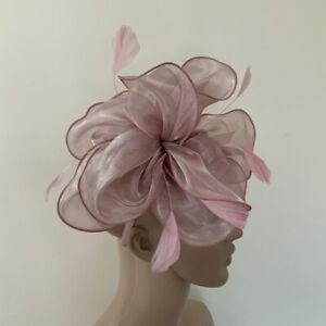NEW Dusky Pink Fascinator headband Ladies Race Day Wedding Fashion Accessories