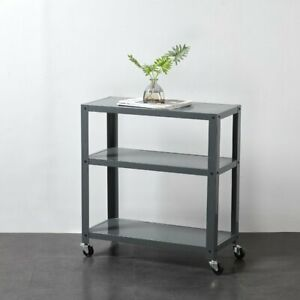 3-Tier Trolley Cart, Charcoal