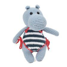 Knitted Rhino Amigurumi Handmade Toy