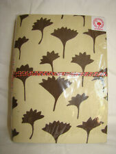 WRAP TIE INDIAN CREAM/CHOCOLATE SARI COVERED NOTEBOOK, JOURNAL HANDMADE PAPER