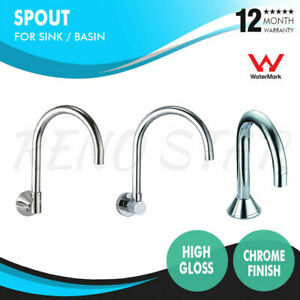 Sink Spout Outlet Curved High Gloss Chrome for Kitchen Bathroom Laundry