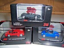 Lot of 3 Malibu International 1:87 Scale Cars Jaguar XK120 Ford Street KA Lambor