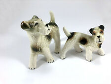 More details for pair of porcelain fox terriers