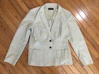 Piazza Sempione Light Khaki Cotton Jacket Size Italian 44 Size USA M