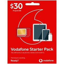 VODAFONE STARTER PACK $30 PREPAID SIM NEW