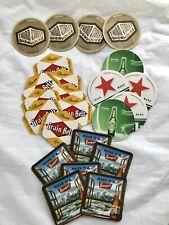 Lot of 13 - Assorted Cardboard Brewery | Beer Bar Coasters Grain Belt/Heineken