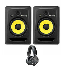 KRK ROKIT RP8-G3 8-in Powered Studio Monitors Pair + Audio-Technica ATH-M50x ...