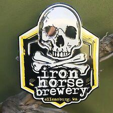 Iron Horse Brewery Logo Tin Tacker Metal Beer Sign