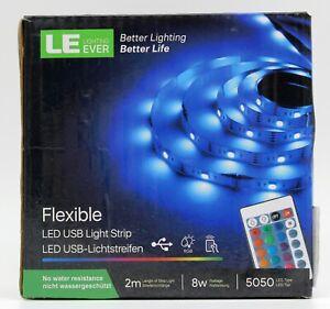 2 m LE Lighting Ever RGB LED Streifen TV Hintergrundbeleuchtung
