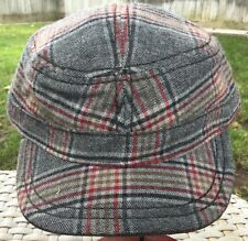 STETSON VIRGIN WOOL BLEND XL 61cm 7 5/8 CADET MILITARY HAT GRAY RED ARMY STYLE
