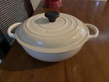 Le Creuset Cast Iron Signature Stew Soup Pot Almond Dune 2.5 Qt 22