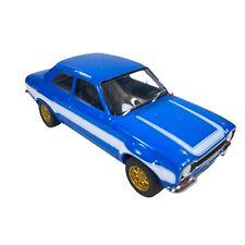 "Ford Escort Mk1 1974 Greenlight Rs2000 1:18 Scale 3""T 9""W Cobalt Blue Car"