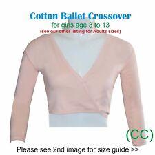 Girls Ballet Crossover Cardigan Wrap 100% Cotton Dance RAD ISTD (CC)