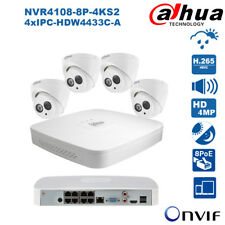 Dahua 8 Channel 8PoE H.265 4MP Built-in MIC Plug&Play Home CCTV Security System