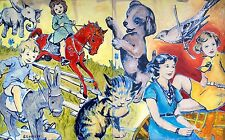 "DAVID BROMLEY ""At The Farm"" Original Polymer on Canvas 150cm x 240cm (Diptych)"