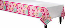 Girl 1st Birthday Party Supplies Decorations ONE WILD GIRL Tablecloth Plastic