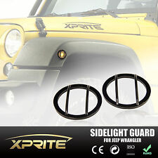 for 07-18 Jeep Wrangler JK Light Guard Set For Side Fender Marker Light Cover