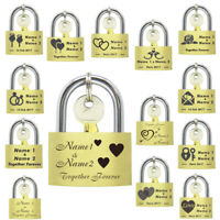 Personalised Wedding Padlock Gift Engagement Lock Favour Keepsake Love Mr & Mrs