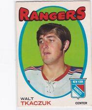 1971-72 O PEE CHEE HOCKEY WALTER TKACZUK #75 RANGERS EX+ *60501