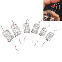 2Pcs/lot Wire Lure Cage Bait Cage Fishing Basket Feeder Holder Fishing Tac T  zc