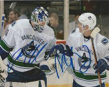 Vancouver Canucks Jacob Markstrom Alex Burrows Signed Autographed 8x10 Photo COA