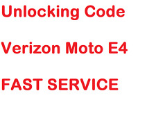 Unlock Code Verizon Telcel Mexico Motorola Moto E4 XT1767 E4 Plus Fast Reply