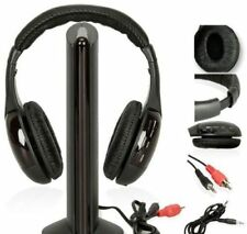 Wireless Headphones Headset Cordless RF With Mic for PC TV DVD CD Mp3 Mp4