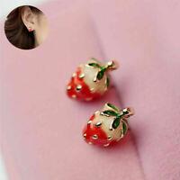 Johnson Earrings Enamel Cute Ear Strawberry Women Girls Stud Studs Mini Betsey