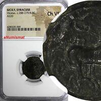 SICILY. Syracuse. Hicetas (ca. 288-279/8 BC). AE 20 mm NGC Ch VF  Sear# 1210