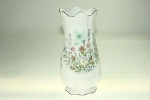 "AYNSLEY  WILD TUDOR Flower Vase Fine Bone China  8"" / 20cm Tall"