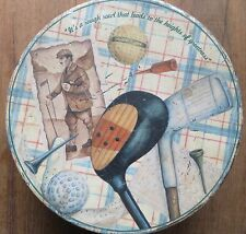 """VTG TIN SIGN BOX """"IT'S A ROUGH ROAD THAT LEADS TO THE..""""ENGLISH C/R MELER CREATI"""