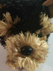 "Build A Bear Yorkshire Terrier Yorkie Dog Brown Black Plush Sound 11"" Soft Toy"