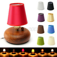Fabric Chandelier Lampshade Holder Clip on Sconce Bedroom Beside Bed Lamp  F