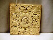 "Antique Tile Minton's England Floral Design Slight Embossed Gilt Decorative ""715"