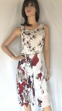 Anthropologie Varun Bahl Dress - size 8 - floral chiffon swing dress