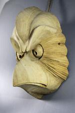 Vintage Hand Carved KARASUTENGU Japanese Noh Kyougen Kagura Bugaku GAGAKU Helmet