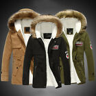 Winter Mens Warm Fur Collar Hooded Parka Thick Down Coat Outwear Down Jacket