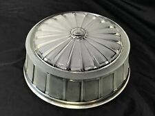 "Vtg Art Deco MCM 8"" Glass Lamp Shade Frosted 'Holophane' Flush Mount 30s 40s 50s"
