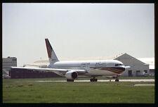 Orig 35mm airline slide Gulf Air 767-300 A40-GH [212-1]