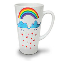 Rainbow Love Rain Fashion NEW White Tea Coffee Latte Mug 12 17 oz | Wellcoda