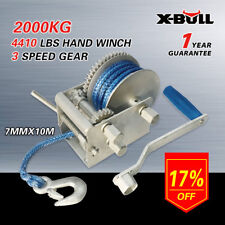 X-BULL 3 Speed Hand Winch with Dyneema Rope