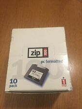 Iomega ZIP100 PC Formatted 100MB Zip Disks - Pack Of 10