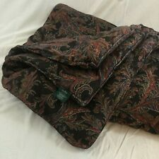 Ralph Lauren BEDFORD HUNT Brown Paisley Comforter Full/ Queen