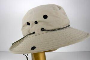 L.L. Bean Bucket Sun Fishing Hat Size Large Unisex Beige Packable