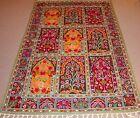 Large Persian Kashmir Chainstitch Wool Rug Carpet Runner, Home Floor Room Decor