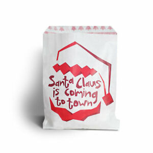 """CHRISTMAS PRINT SWEET / CANDY PAPER BAGS (5 x 7"""") SOLD IN PACKS OF 10, 20 ⭐⭐⭐⭐"""