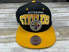 MITCHELL & NESS NFL VINTAGE COLLECTION PITTSBURGH STEELERS LOGO SNAPBACK HAT EUC